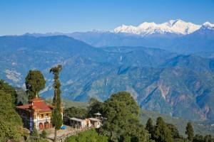 Utsikt över Darjeeling