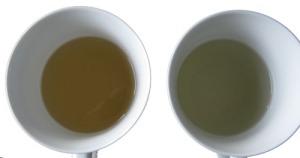 Ekologiskt Cui Min Med filtrerat och ofiltrerat vatten